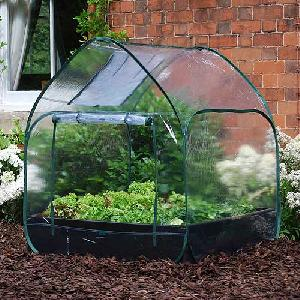 Large Raised Bed With Pop Up Mini Greenhouse From Raised