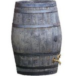 Oak Barrel Water Butt