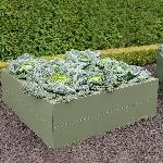 Steel Raised Beds in Green