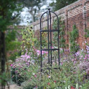 Steel Round Obelisk From Garden Structures Allotment Shop