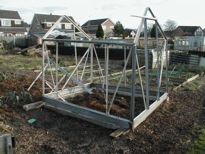 Greenhouse Roof Blown Off