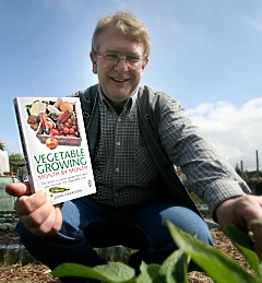 John Harrison with Vegetable Growing Book