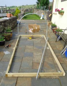 Constructing Mini Polytunnel